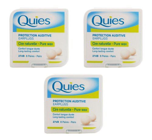 Boules Quies Protection Auditive Earplugs, Made In France Caswell-Massey Pure Wax 24 Pairs Ear Plugs