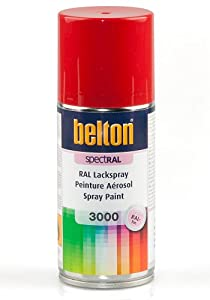 ral 3000 rouge feu mat belton bombe peinture 150 ml bombe aerosol reparation. Black Bedroom Furniture Sets. Home Design Ideas