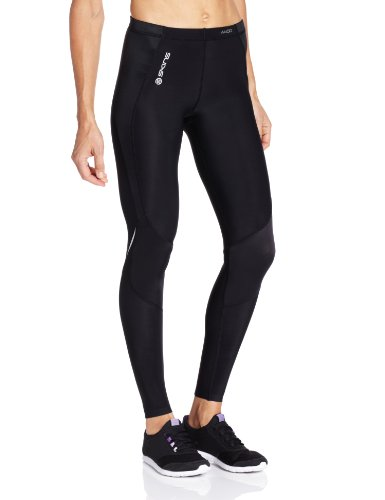 SKINS Women's A400 Long Tights , Black/Silver, SmallH Skins Active Leggings autotags B0041EBF78