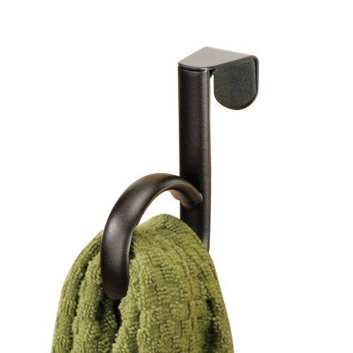 InterDesign Axis Over-the-Cabinet Kitchen Dish Towel Holder Loop - Bronze