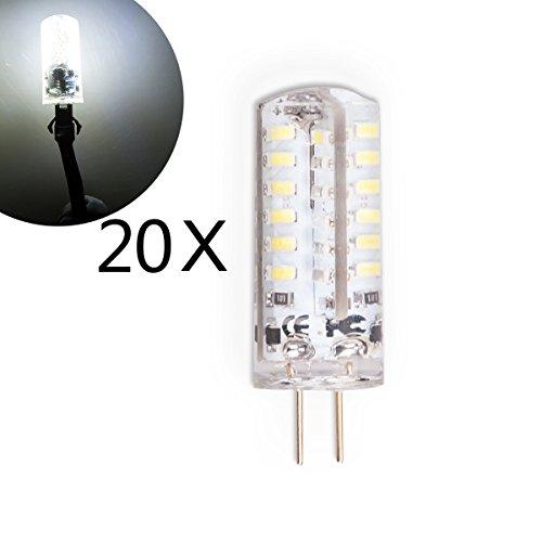 20-Stck-G4-LED-3-Watt-DC12V-Kaltwei-Lampe-Birne-Leuchte-Leuchtmittel-Halogenersatz-Stiftsockel-aus-Silikon-Silica-Gel