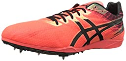 ASICS Men\'s Cosmoracer LD Track Shoe, Flash Coral/Black, 6 M US