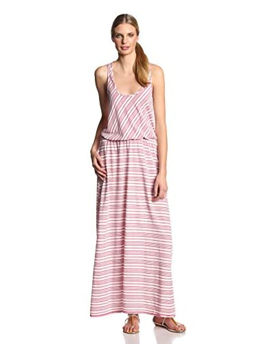 Michael Stars Women's Abbot Kinney Stripe Maxi Dress with Mesh Back Yoke