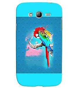 PrintVisa Birds Parrot Colorful 3D Hard Polycarbonate Designer Back Case Cover for Samsung Galaxy Grand