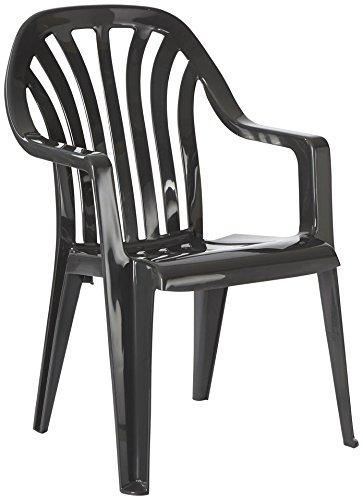 BEST Gartensessel »4 Stück« 4 Stühle, anthrazit