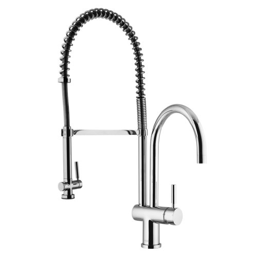 Vigo Industries VG02006CH Commercial Style Pull Out Spray Faucet, Chrome