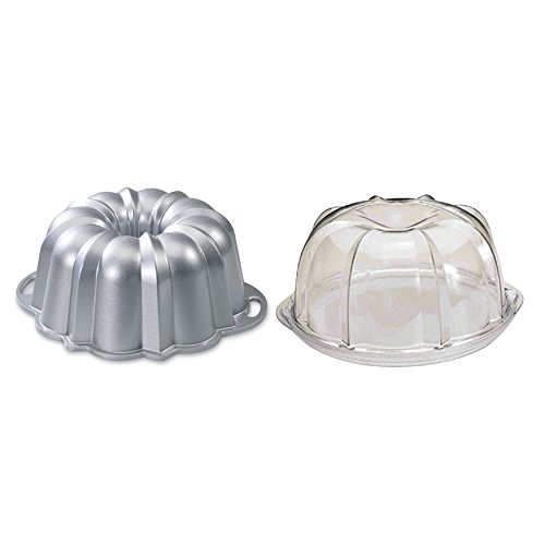 Nordic Ware Platinum Collection Original 10- to 15-Cup Bundt Pan and Deluxe Bundt Cake Keeper (Nordic Ware Cake Keeper compare prices)