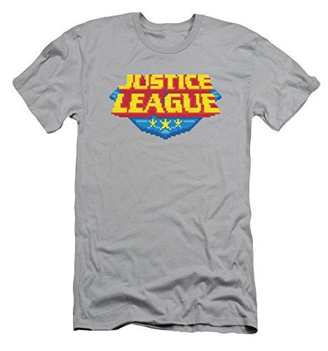 Justice League 8 Bit Logo Slim Fit T-Shirt