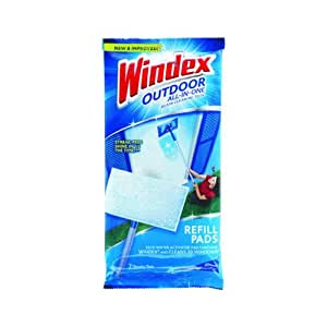 Windex Outdoor All In One Window Cleaner Pads Refill 2 Ct Health Personal Care