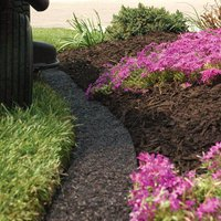 Amazon Com A M Leonard Recycled Rubber Mulch Edging In