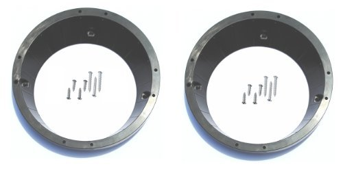 """Harley-Davidson Ultra and Roadglide 5.25"""" to 6.5"""" Inch Factory to Aftermarket Speaker Adapter Converter Trim Ring (2005, 2006 2007 2008 2009 2010 2011)"""