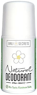 Bali Secrets Natural Deodorant - Organic & Vegan - For Women & Men - Reliable All Day Protection - No Baking Soda - No Parabens - No Aluminum Chlorohydrate - 2 fl.oz/60ml