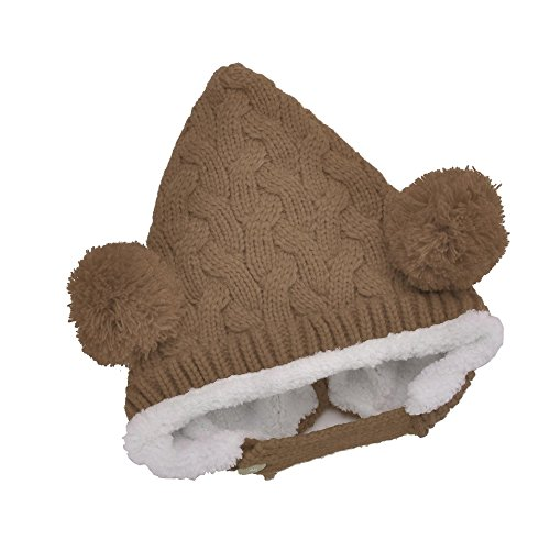 Finejo® Baby Boy Girl Toddler Kids Cute Hat Wool Knitted Autumn Winter Warm Cap 4 Colors back-972456