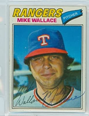 Mike Wallace AUTOGRAPH 1977 Topps #539 Texas Rangers