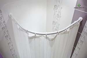 Asta ricurva per tenda da doccia 90 x 90 cm colore - Asta tenda doccia ...
