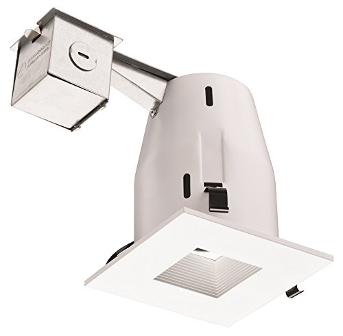 Lithonia Lighting Lk4Sqmw Led Lpi M6 4-Inch Square Led Kit With Bulb, Matte White