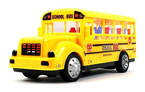 Ultimate Student School Bus Remote Control Rc Car 1:18 Scale Size Led Ready To Run Rtr, Plays Sounds & Flashes Lights