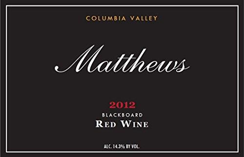 2012 Matthews Estate Blackboard Blend - Red Columbia Valley 750 Ml