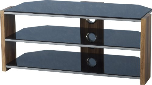 Hollyhurst Black Glass Corner TV Unit LCD Plasma Flat Screen TV Stand