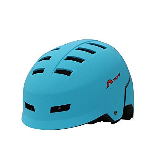 Aidy Zaino Unisex, per adulti, Skateboard, Sport-Casco da ciclismo, blu
