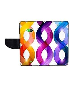 KolorEdge Printed Flip Cover For Microsoft Lumia 535 Multicolor -(50KeMLogo12135Lumia535)