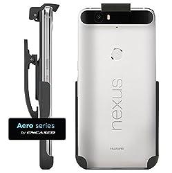 Nexus 6P Spring Clip Belt Holster - Case Free Design (Encased ) (Black)