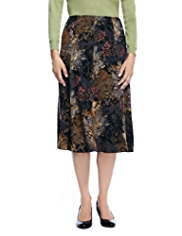 Classic Flock Floral Long Skirt