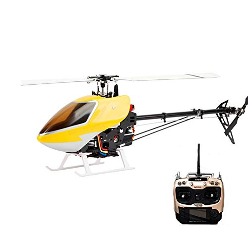 s JCZK 450 DFC 6CH 3D Flying 2.4G 9CH Transmitter Extra Long Distance Flybarless RC Helicopter RTF (Color: Clear, Tamaño: Standard)
