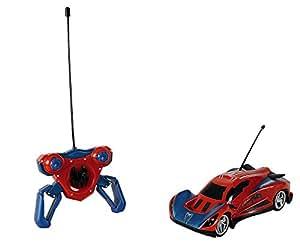 Majorette - 213089742 - Radio Commande Véhicule Miniature - Spiderman - RC Turbo Racer - Echelle 1:24