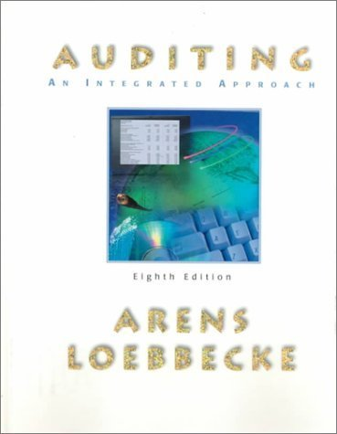 Arens, Alvin; James, Loebbecke; Alvin, Arens; Loebbecke, Jam's Auditing: An Integrated Approach 8th (eighth) edition by Arens, Alvin; James, Loebbecke; Alvin, Arens; Loebbecke, Jam published by Prentice Hall College Div [Hardcover] (1999)