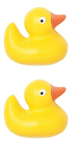 JHB International Inc Rubber Duck Novelty Button, 2-Per Card