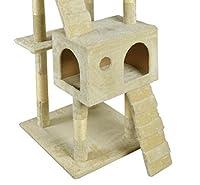 BestPet CT-9073 Cat Tree Scratcher Play House Condo Furniture Toy, 73-Inch, Beige