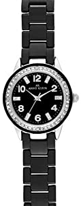 AK Anne Klein Ceramic and Crystal Black Dial Women's watch #10/9341BKBK