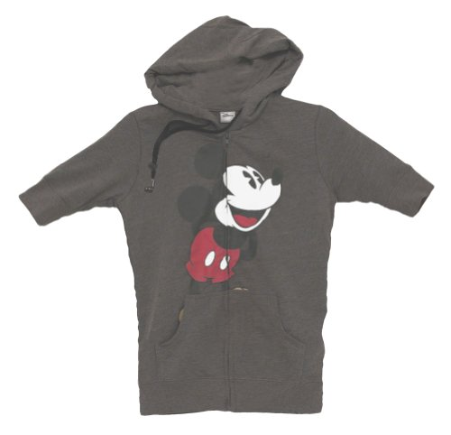 Mickey Mouse Disney Headphones Ear Buds Juniors Zip Hoodie Hooded Sweatshirt