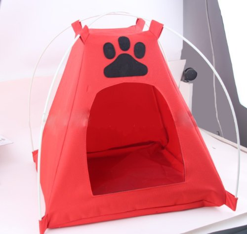 Andget® Pet Tent With Mat Oxford Fabric 40X40X45Cm Blue