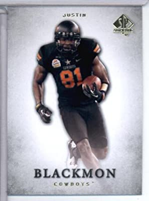 2012 Upper Deck SP Authentic # 81 Justin Blackmon RC - Oklahoma State Cowboys / Jacksonville Jaguars (RC - Rookie Card) NFL Football Trading Card