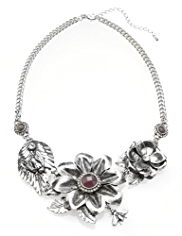 M&S Collection Floral & Bee Collar Necklace