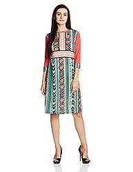 Fusion Beats Women's A-Line Dress (E515KNAK03M MULTICOLOUR XL)