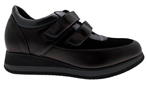 art L8098 sneaker nero elasticizzato predisposta plantare anatomico scarpa donna 40 nero
