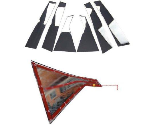 Car Auto Parts Shiny Chrome Stainless Steel Window Molding Trim Strip Line Exterior Kit For 2013 Hyundai Santa Fe ix45