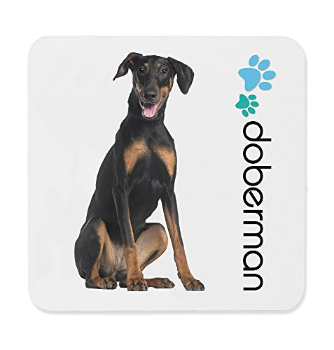 Dimension 9 Doberman Pinscher Coaster, White