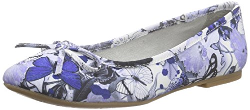 s.Oliver22123 - Ballerine Donna , Blu (Blau (BLUE FLOWER 812)), 37