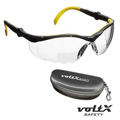 e13585d14cd1 voltX GT ADJUSTABLE Bifocal Reading Safety Glasses (Clear lens +2.0), CE  EN166FT