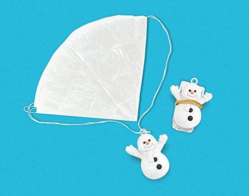 Amscan Snowmen Paratroopers - 10 Snowmen Per Pack - 1