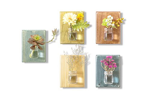 wood-meets-color-hanging-vase-on-the-wall-a-set-of-five-boardsincluding-nails-and-ropes-no-flower-na