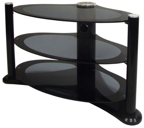 MODUS - Unique Shape Black Plasma / LCD Stand for TV s up to 37 inch