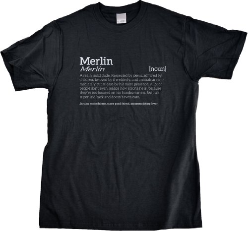 Merlin Is A Solid Dude T-Shirt For Rad Guys Named Merlin-Large