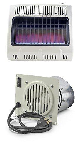 Mr. Heater 30,000 BTU Vent Free Blue Flame Natural Gas Heater+mr Heater Fan