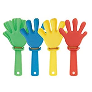 12 Mini Hand Clappers ~ Party bag filler toys