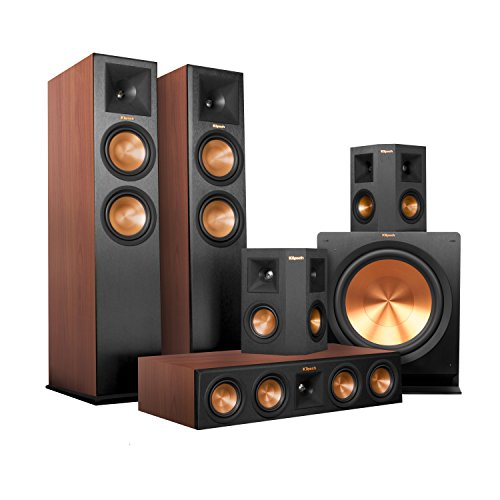 Klipsch RP-280F Home Theater System Bundle (Cherry with Black Surrounds and Subwoofer) with Denon AVR-X4200W